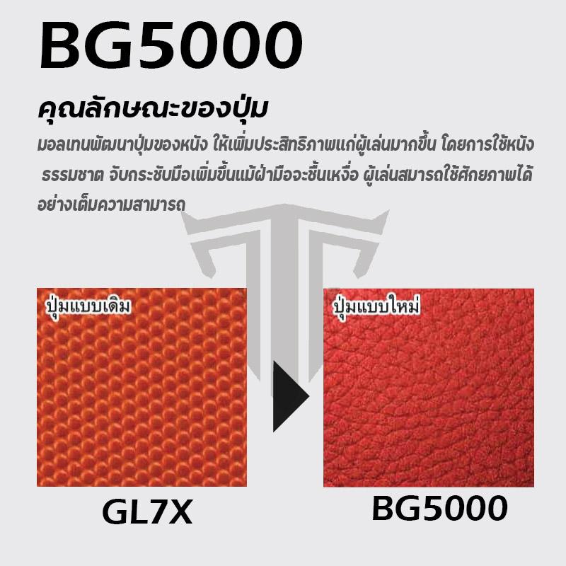 แสดงการเปรียบเทียบพื้นพิวของบาส BG5000 และ GL7X