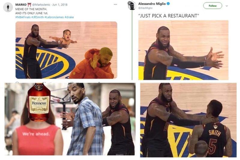 นักบาสเกตบอล LeBron meme